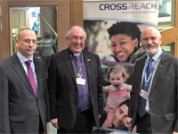 Dave pictured with the Rev Angus Morrison and Jim Eadie MSP
